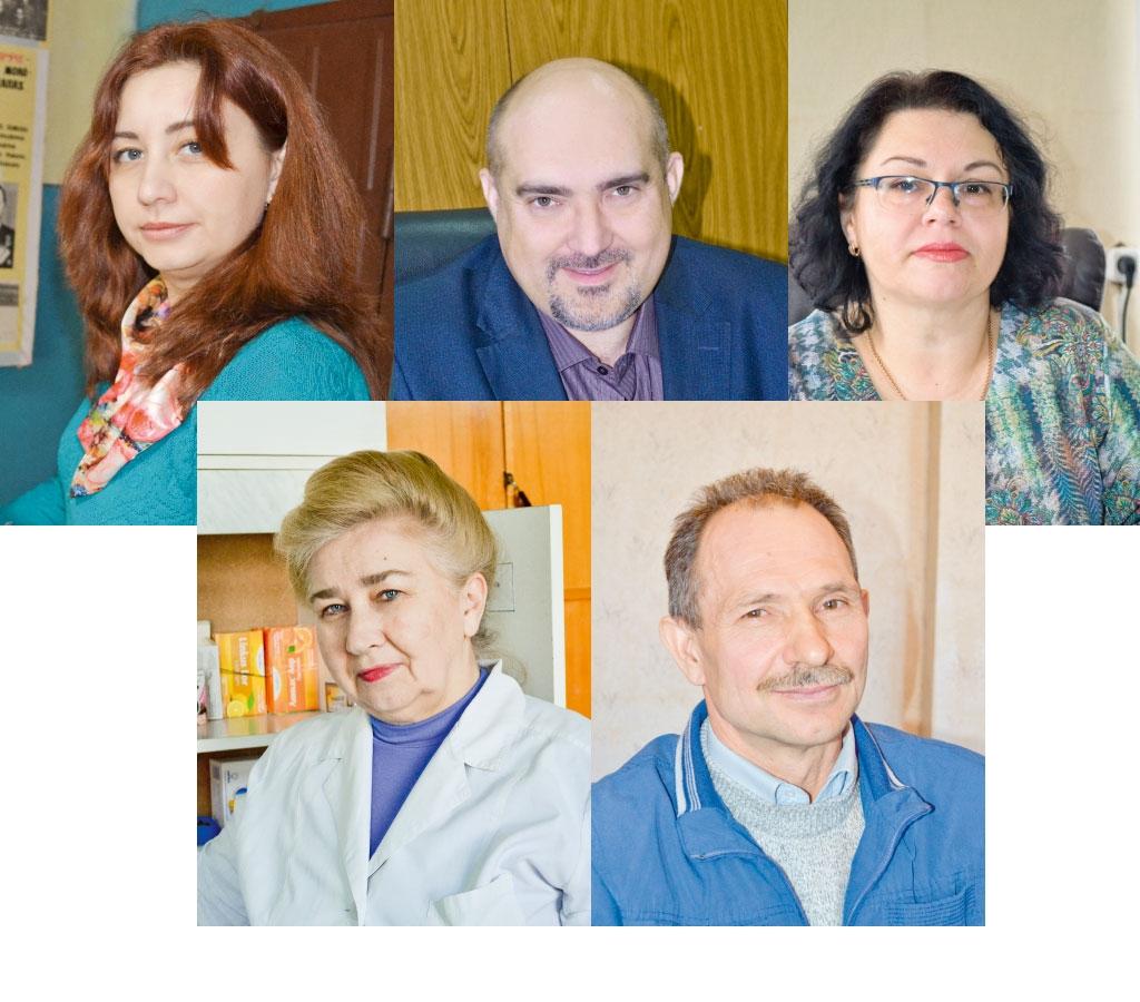 На вопросы отвечали (слева направо и сверху вниз): Фищенко Е.П., Шамин К.А., Аксенова О.И., Клюева В.В., Жуков А.А.