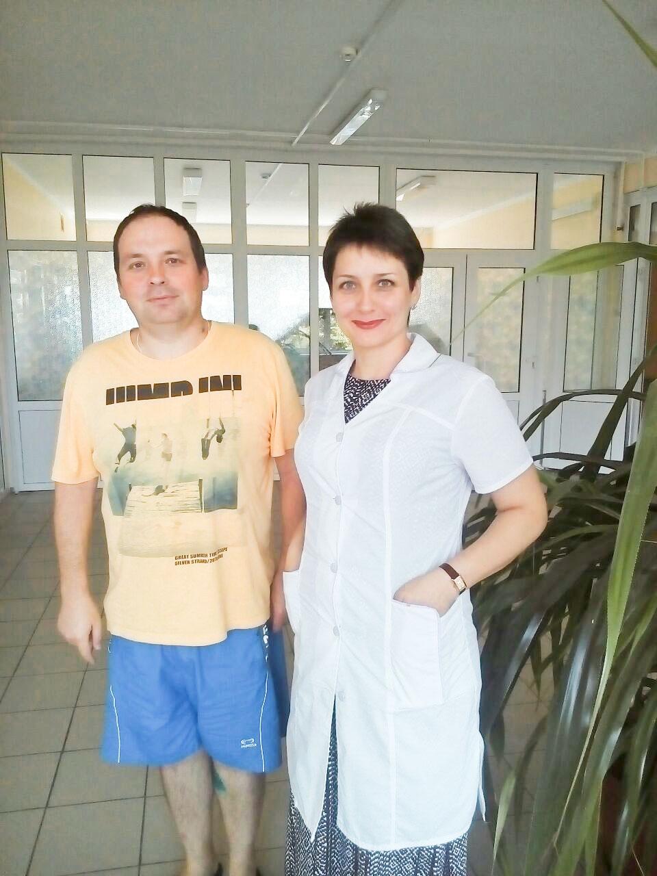 Максим Родионов и его лечащий врач Людмила Гушлевская