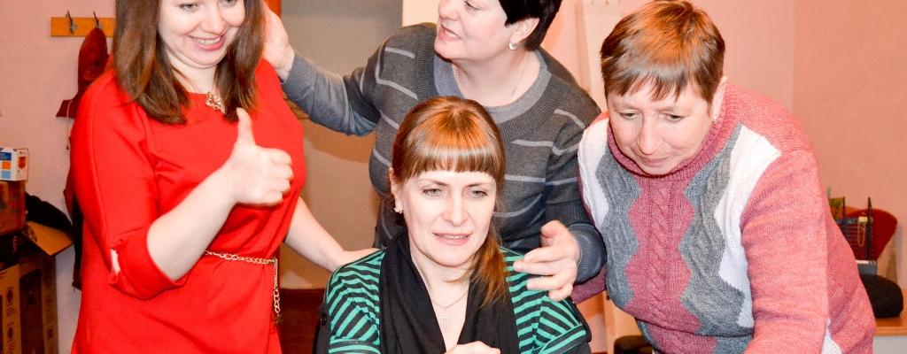 Слева направо: Татьяна Володькина, Юлия Ковалева, Надежда Легких, сидит Ольга Родюкова